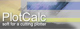 PlotCalc - soft for a cutting plotter